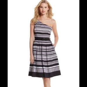 WHBM Striped Shoulder Dress